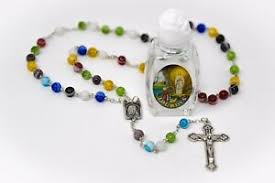 holy water murano gl rosary beads