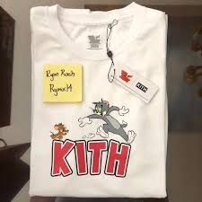 Kith White Kith Tom And Jerry Chase Tee