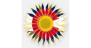 Colorado Flag Sunflower Sticker Zazzle Com