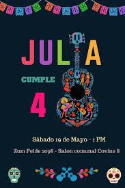 Flores De Papel Fiesta De Coco Invitaciones De Fiesta Fiestas Tematicas De Pelicula