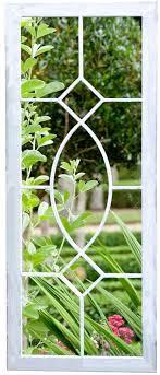 Rectangular Tall Garden Mirror In Grey Wash Steel Amazon Co Uk Kitchen Home