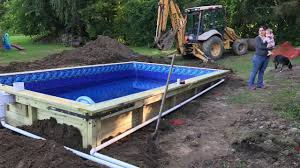 diy wood in ground swimming pool you