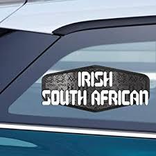 Amazon Com Makoroni Irish South African South Africa South African Car Magnet Magnetic Bumper Sticker 3 5x8 Or 4 5x10 Inc Automotive