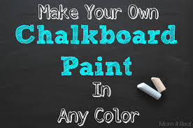 own chalkboard paint in any color
