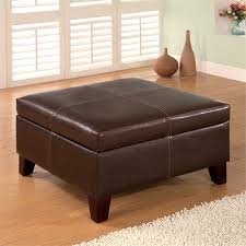 bowery hill faux leather square coffee