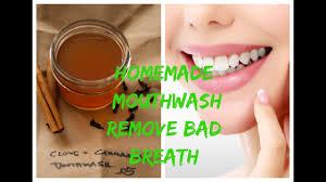homemade mouthwash remove bad breath