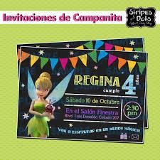 Invitaciones De Campanita Invitaciones Tinkerbell Campanita