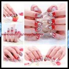 diamond glitter acrylic nail