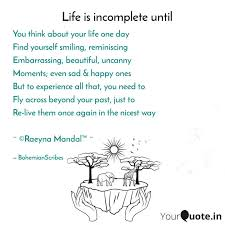 you think about your life quotes writings by raeyna mandal