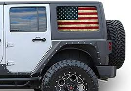 Amazon Com Gold Fish Decals Side Set Window Perforated See Thru Graphic Decal Sticker Flag 1 Compatible With Jeep Wrangler 4 Doors Jk Rubicon Automotive