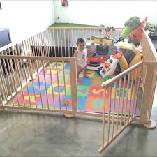 Buy Large Wooden Playpen Play Yard In Singapore Singapore The Pen Consists Of 8 Panels 60x90cm Each Made Of U Baby Play Yard Baby Play Areas Baby Playpen