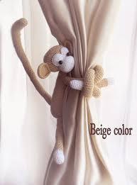 Gifts For Kids Babiesmonkey Curtain Tie Back1 Pcscrochet Etsy