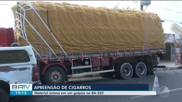 """Resultado de imagem para CARGA DE CIGARROS APREENDIDA EM SÃO GONÇALO DOS CAMPOS"""""""