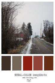 russet and brown colour palette