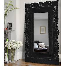 oversize black floor mirror 206cm
