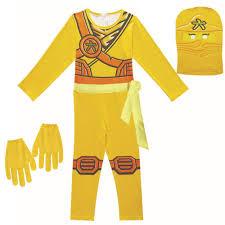 Skylor Lego Ninjago Gold Ninja Girls Boys Halloween Costume – FADCOVER