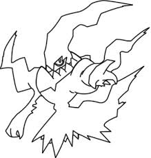 Palkia Pokemon Coloring Pages Darkrai Pokemon Coloring Pages With