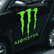 Monster Decal Large 17 X 19 Lime Green Vinyl Graphics Wrap Sticker Truck Jeep Ebay