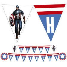 Captain America Birthday Banner Captainamerica Birthday Banner