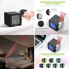 Baldr Alarm Clocks Time Projection New Clock Time On Ceiling Wall For Bedroom Decor Digital Travel Clock With Colorful Backlight For Kids Adjustable Brightness Projector Focus Dc Adpator Included Wish