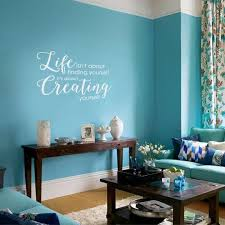Life Is About Creating Yourself Wall Decal Teal Walls Living Room Room Wall Colors Dining Room Colors