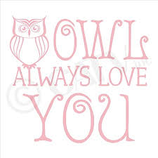 Amazon Com Owl Always Love You Vinyl Lettering Wall Decal Sticker 12 5 H X 13 5 W Vintage Pink Home Kitchen