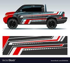 Racing Car Design Vehicle Wrap Vinyl Graphics Vector Image