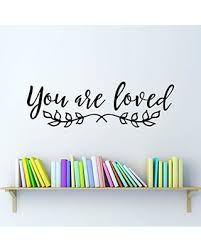 Deals On You Are Loved Wall Decal Bedroom Sticker Decor Leaf Graphic