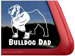 Bulldog Decals Stickers A Nickerstickers