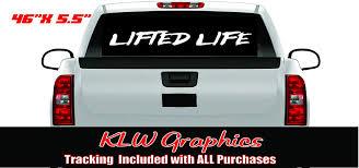 Amazon Com Lifted Life Windshield Vinyl Decal Sticker Truck Car Boost Turbo Shitbox Diesel Automotive