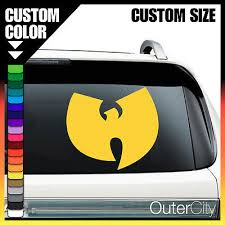 Wu Tang Clan Black Bands Automotive Decal Bumper Sticker Exterior Accessories Cbib Cl