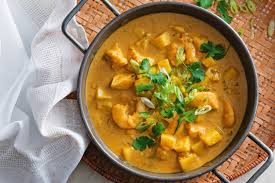 Thai yellow curry seafood chowder