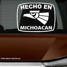 Hecho En Chihuahua Estado De Mexico Aztec Aguila Decal Sticker