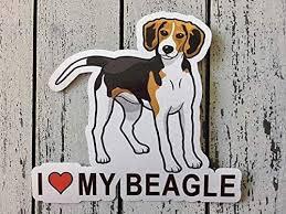 Amazon Com I Love My Beagle Dog Silhouette Vinyl Sticker Decal Laptop Decal Car Window Truck Decal Sticker Handmade