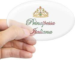 Amazon Com Cafepress Principessa Italiana Italian Princess Sticker O Oval Bumper Sticker Euro Oval Car Decal Home Kitchen
