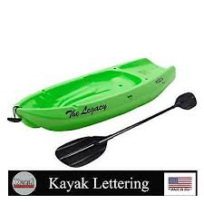 Kayak Custom Boat Name Decal Sticker Lettering Set Of 2 Choose Your Font Ebay