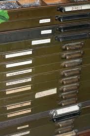 letterpress cabinets metal type cases
