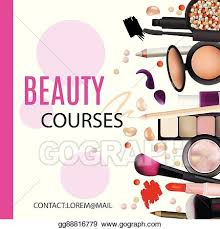 beauty courses poster design cosmetic
