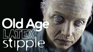 old age latex stipple makeup tutorial