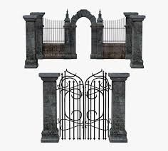 Gate Portal Entrance Fence Iron Stone Mausoleum Clipart Black And White Lgate Hd Png Download Kindpng