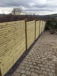Contemporary Fence Panel Double Sided