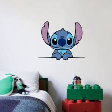 Design With Vinyl Lilo And Stitch Cute Disney Character Wall Decal Wayfair