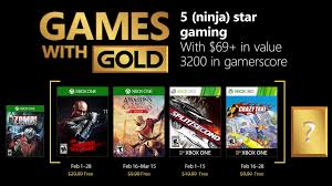 february games with gold the loot gaming