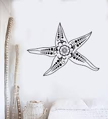 Vinyl Wall Decal Starfish Marine Animal Ocean Style Room Stickers Uniq Wallstickers4you