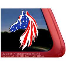 Usa American Flag Horse Head High Quality Adhesive Window Decal Walmart Com Walmart Com