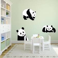 Panda Bears Wall Sticker Animal Wall Decor Tree Removable Safari Wall American Wall Designs