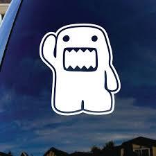 Cartoon Waving Kun Monster Hi Car Window Vinyl Decal Sticker 4 Tall