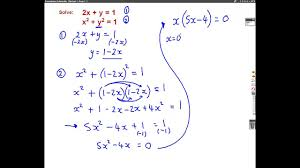 harder simultaneous equations by