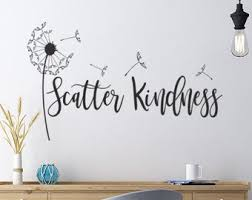 Kindness Wall Decal Etsy