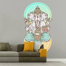 Stickalz Llc India Gunesha Full Color Wall Decal Sticker K 421 Frst Size 40 X63 Walmart Com Walmart Com